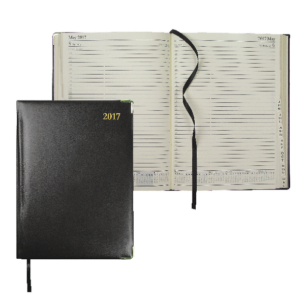 Collins Classic 2017 Day/Page Black Appointment Diary 1200V