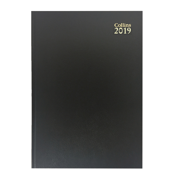Collins A4 Desk Diary 2 Pages Per Day 2019 Black 47