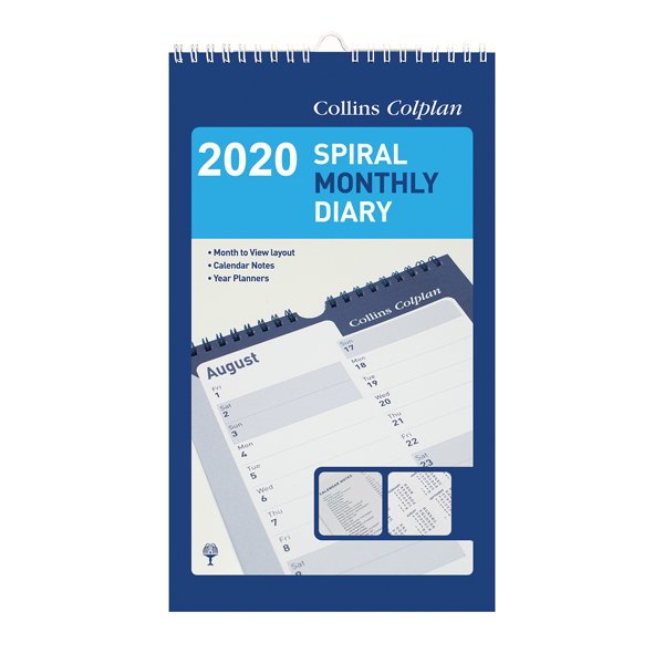 Collins Monthly Spiral Diary 2020 64