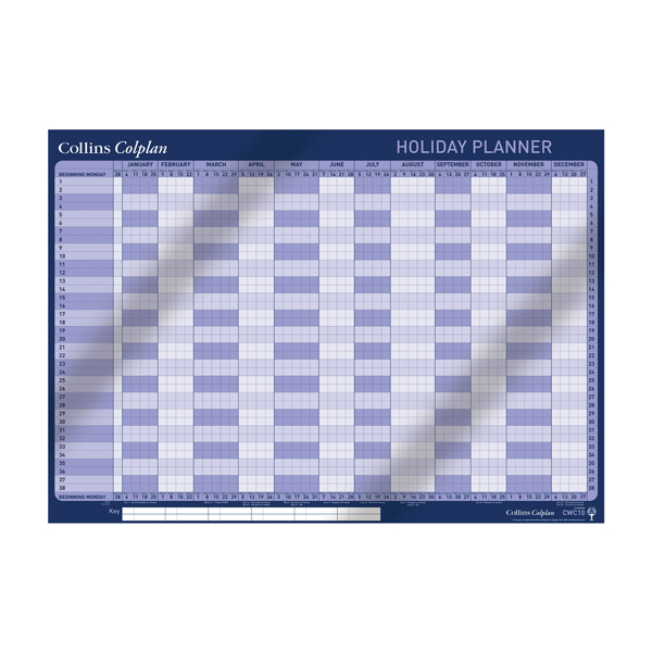 Collins Colplan Holiday Planner 2020 CWC10