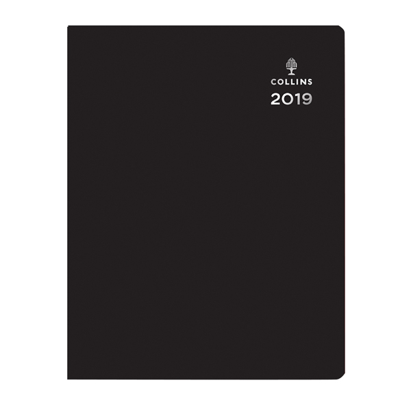 Collins Leadership 2019 Black A4 Day to Page Appointment Diary CP6743