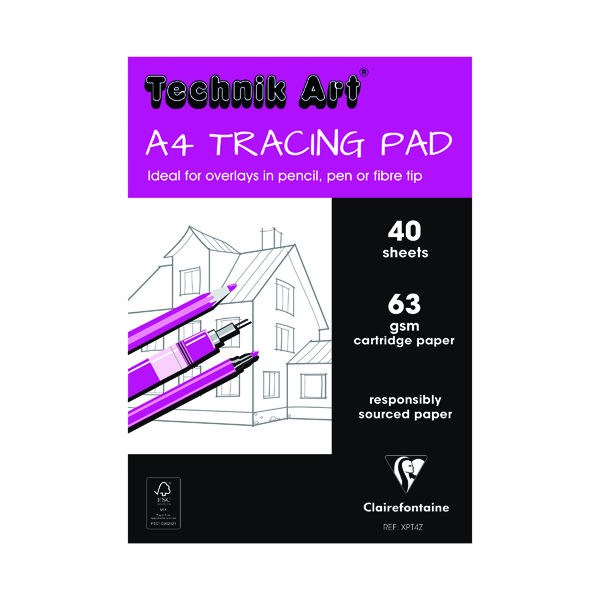 Technik Art Tracing A4 Pad 63gsm 40 Sheets XPT4