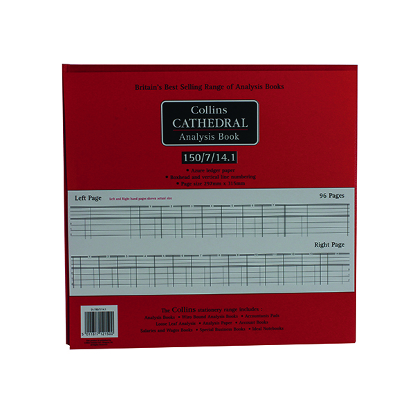 Collins Cathedral Petty Cash 96 Pages 812150/8
