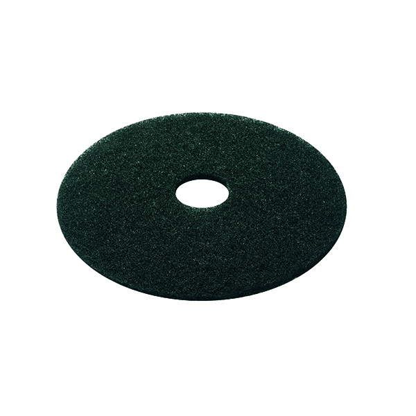 Black 15 Inch 380mm Floor Pad (5 Pack) 2NDBK15