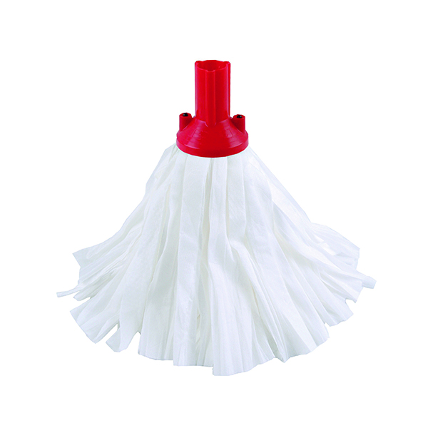 Red Exel Big White Mop Head (10 Pack) 102199RD