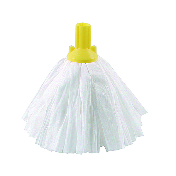 Yellow Exel Big White Mop Head (10 Pack) 102199YL