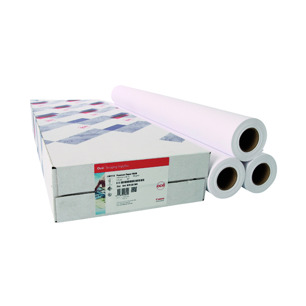 Canon Coated Premium Inkjet Paper 610mmx45m (3 Pack) 97003451