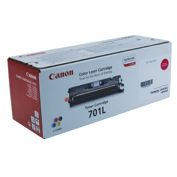 Canon 701L M Magenta Toner Cartridge Low Yield 9289A003