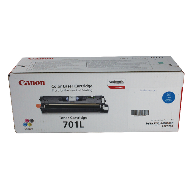 Canon 701L C Cyan Toner Cartridge Low Yield 9290A003