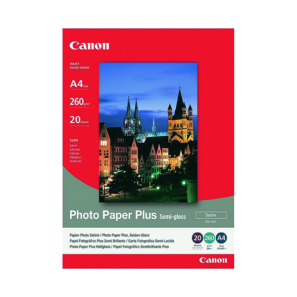Canon Photo Paper Plus Semi-Gloss A4 260gsm (20 Pack) 1686B021