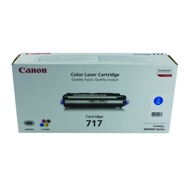 Canon 717C Cyan High Yield Toner Cartridge 2577B002