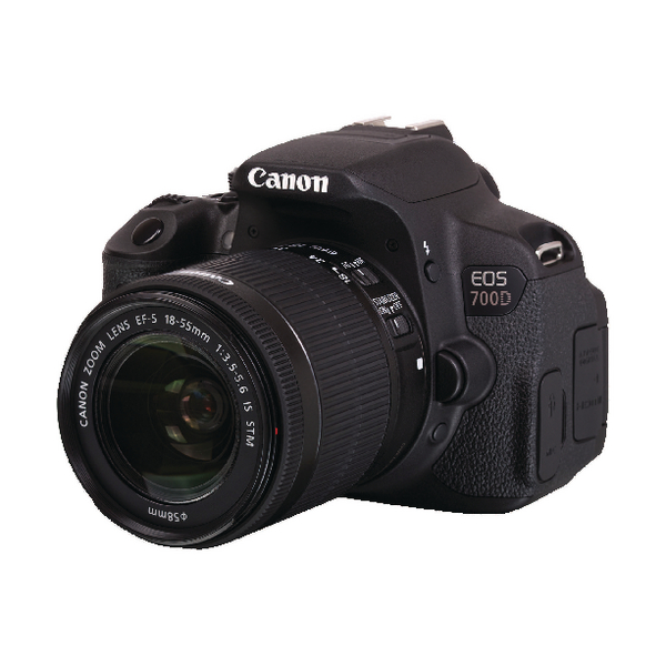 Canon Black EOS 700D Digital SLR Camera With 18-55mm Lens 8596B027