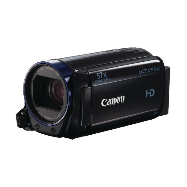 Canon Legria HF-R606 Camcorder with Black Case 4GB SD Card and Battery Kit (Pack of 1) 0280C017