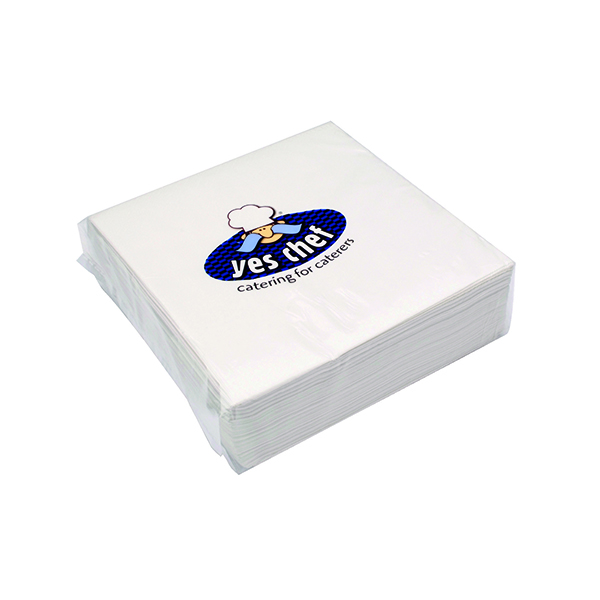 White 2-Ply Paper Napkins 400x400mm (100 Pack) 0502122