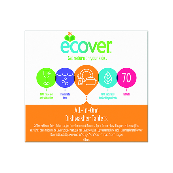 Ecover Dishwash Tablets All in One XL (70 Pack) 1002126