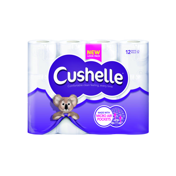 Cushelle White Toilet Roll (12 Pack) 1102089