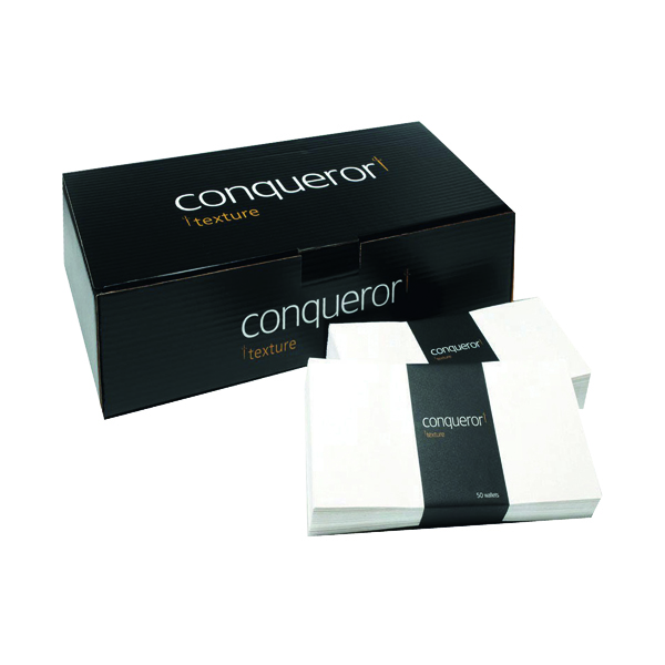 Conqueror Laid 110x220mm Cream DL Wallet Envelope (500 Pack) CDE1003CR