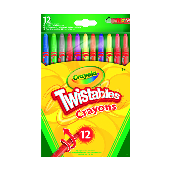 12 Crayola Twistable Coloured Pencils (6 Pack) 52-8530-E-000