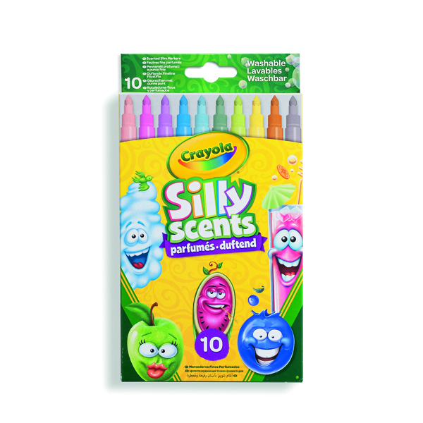 Crayola Silly Scents Scented Markers Fine Assorted (60 Pack) 58-5071-E-000