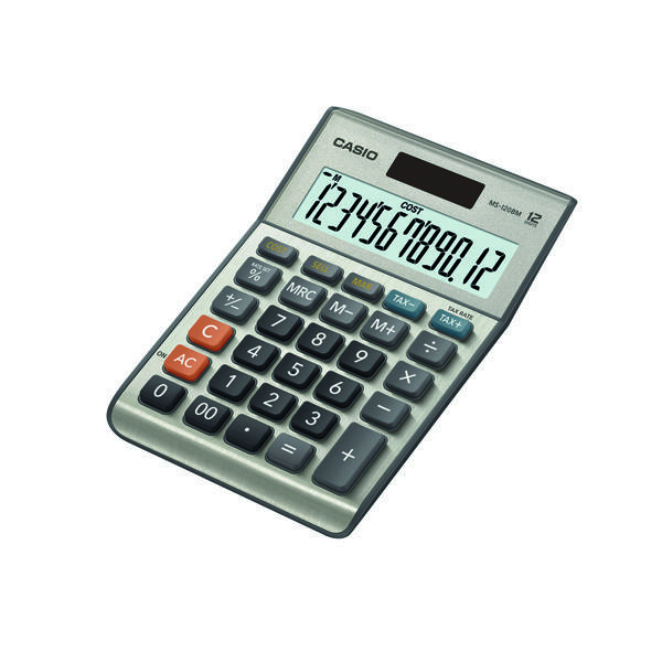 Casio 12-digit Cost/​Sell/​Margin/​Tax Calculator Silver MS-120BM-SK-UP