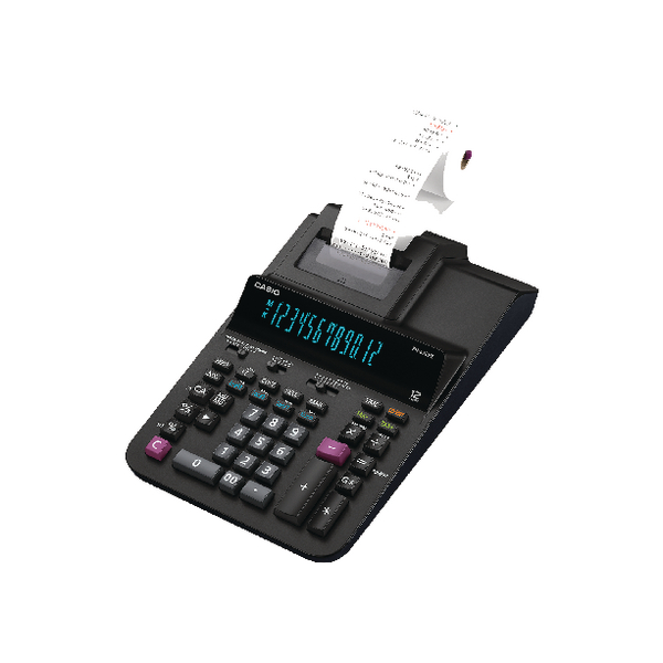 Casio Black 12 Digit Printing Calculator FR-620RE-B-UC