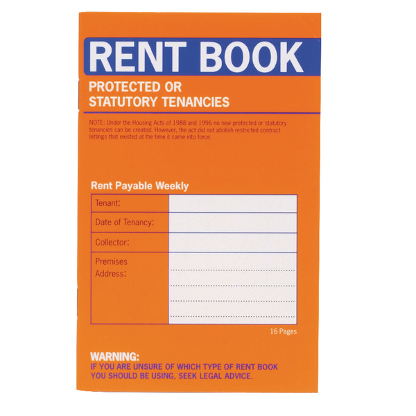 County Protected Tenancy Rent Book (20 Pack) C235
