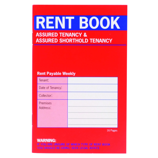 Country Assured Tenancy Rent Book (20 Pack) C237