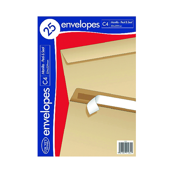 C4 Manilla PS Envelopes 25 (20 Pack) C507