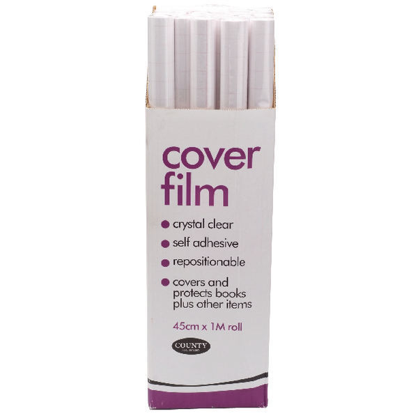 County Clear Book Covering Film 450mm x 1m (25 Pack) C145