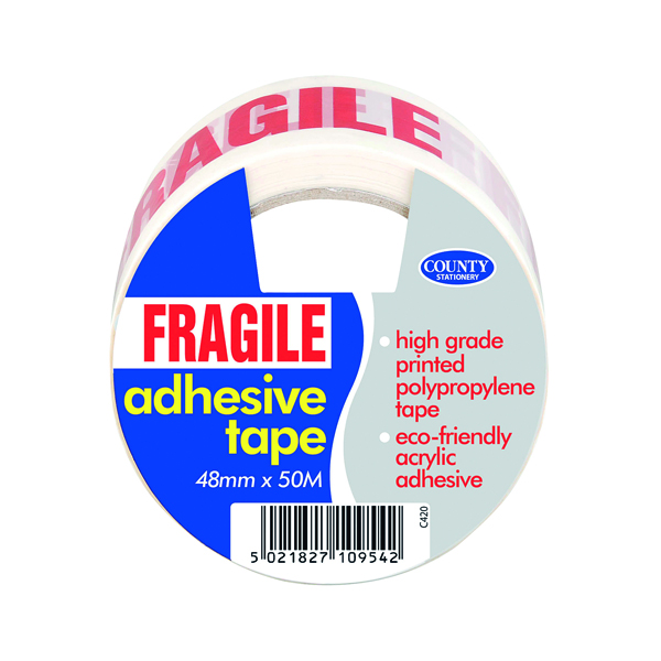 County Adhesive Tape Fragile (6 Pack) C420