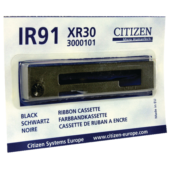 Citizen Black XR30 Mini Printer Ribbon For IR91 Series Printers 3000101