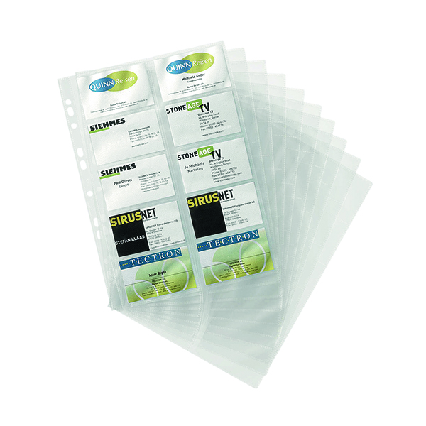Durable A4 Visifix Business Card Pockets Refill (10 Pack) 2389