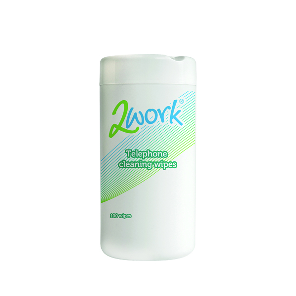 2Work Telephone Cleaning Wipes (100 Pack) DB50347