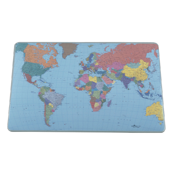 Durable Desk Mat World Map 400x530mm 7211