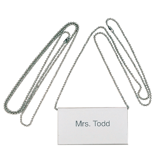 Durable Badge Chain Silver (10 Pack) 8104/23