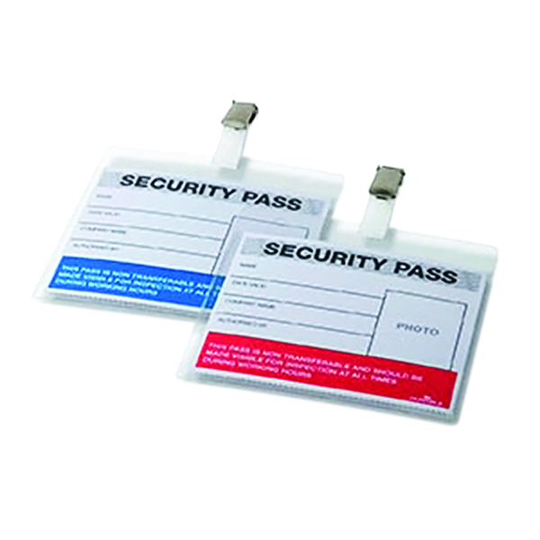Durable Colour-Coded Security Pass Holder (25 Pack) 999108004