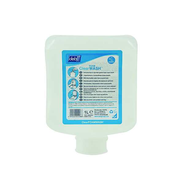 Deb Refresh Clear Foam Wash 1 Litre Cartridge (6 Pack) CLR1L