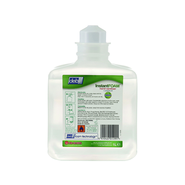 Deb Instant Foam Complete 1 Litre Cartridge (6 Pack) DIS1000ML
