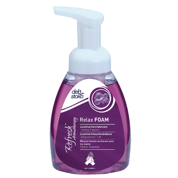 Deb Refresh Relax Hand Wash 250ml Pump Bottle RLX250ML