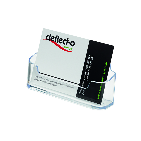 Deflecto Clear Business Card Holder DE701YTCRY