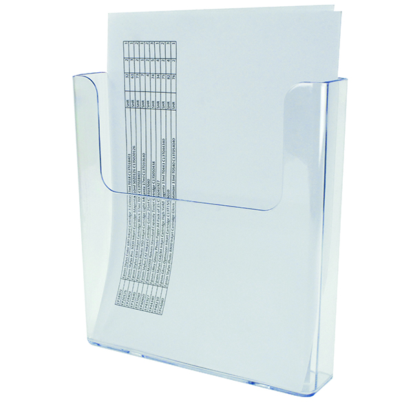 Deflecto Clear Flat Back A4 Literature Holder DE76401