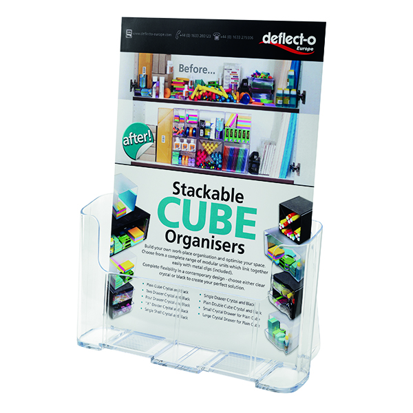 Deflecto A4 Clear Literature Holder 77001