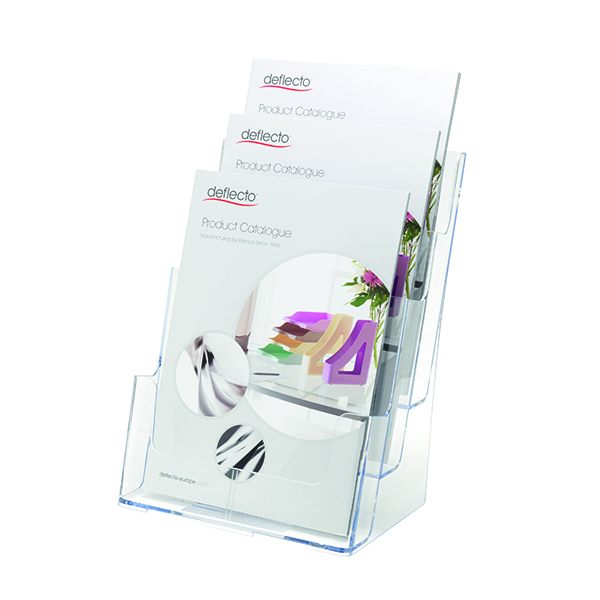 Deflecto Clear A4 3-Tier Literature Holder DE773YTCRY