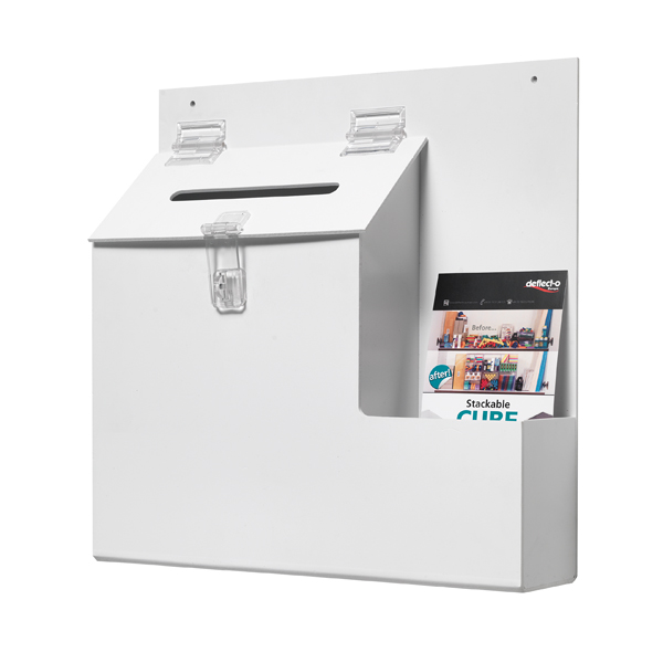 Deflecto White Ballot/Suggestion Box DE79803