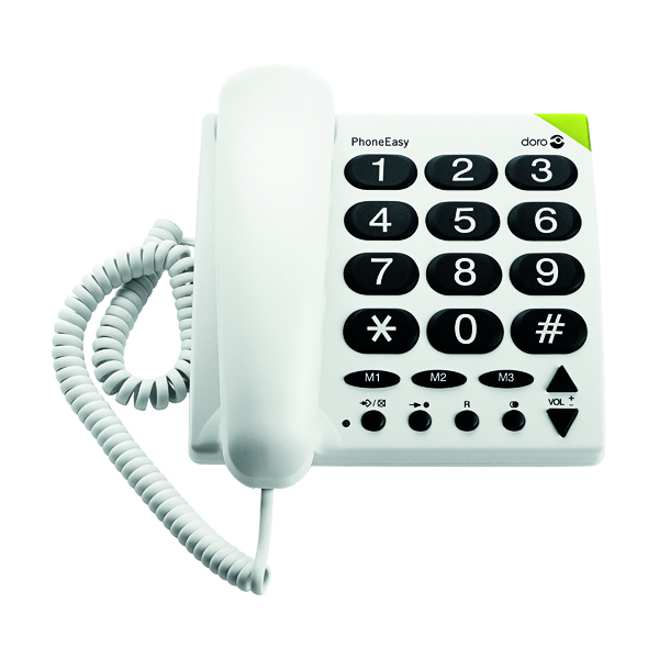 Doro Big Button TeleWhite Phone 311C