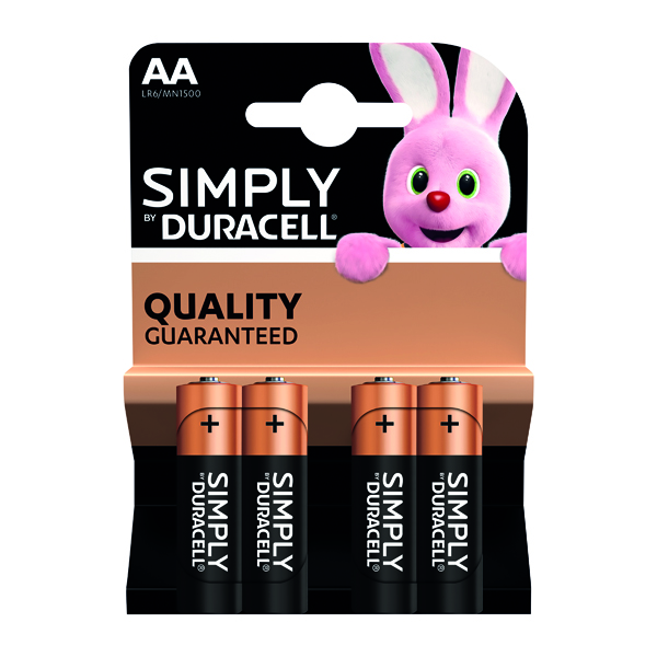 Duracell Simply AA Battery (4 Pack) 81235210