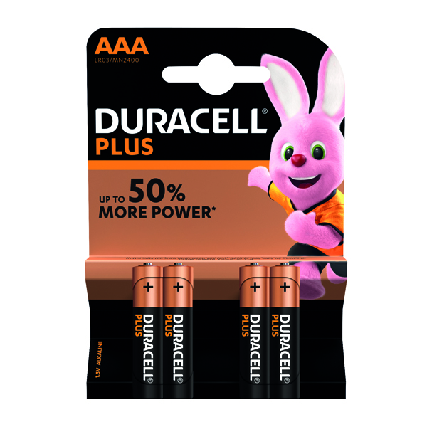 Duracell Plus AAA Battery (4 Pack) 81275396