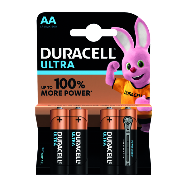Duracell Ultra Power AA Batteries (4 Pack) 75051955