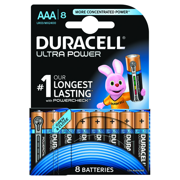 Duracell Ultra Power AAA Batteries (8 Pack) 15071690