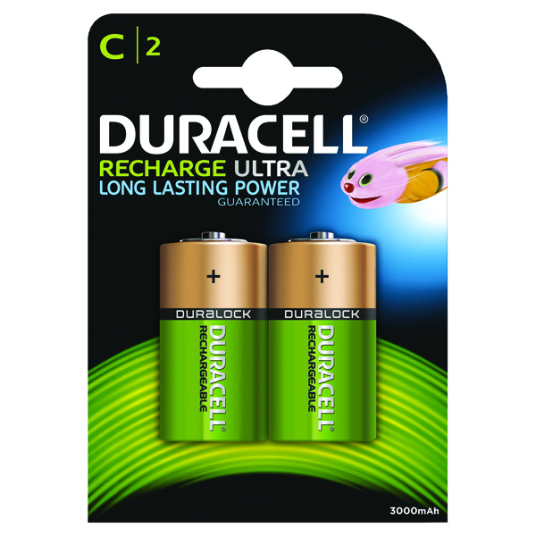 Duracell C Rechargeable NiMH Batteries (2 Pack) 75052458